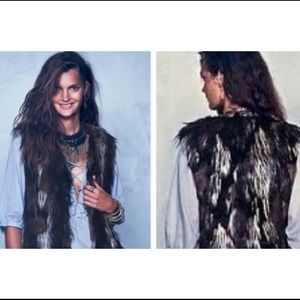 Free People Faux Fur Swagger Vest